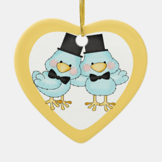 Little Birds Grooms Wedding Christmas Ornament