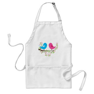 Little Birds on Floral Branch Aprons