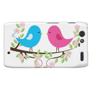 Little Birds on Floral Branch Motorola Droid RAZR Case