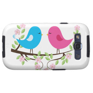 Little Birds on Floral Branch Samsung Galaxy S3 Case