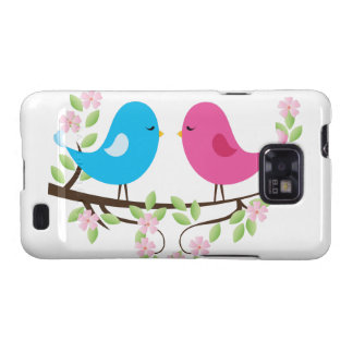 Little Birds on Floral Branch Samsung Galaxy SII Case