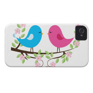 Little Birds on Floral Branch iPhone 4 Case-Mate Case