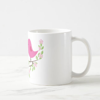 Little Birds on Floral Branch Coffee Mugs
