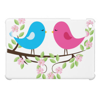 Little Birds on Floral Branch iPad Mini Cases