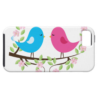 Little Birds on Floral Branch iPhone 5/5S Cases