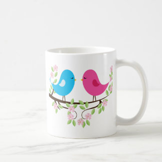Little Birds on Floral Branch Mugs