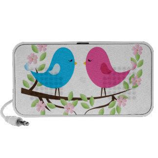 Little Birds on Floral Branch Travelling Speaker