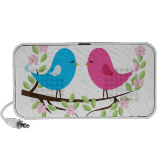 Little Birds on Floral Branch Travelling Speaker