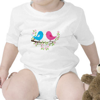 Little Birds on Floral Branch Baby Creeper
