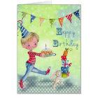 Little Birthday Boy Illustration | Birthday Card