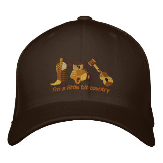 Little Bit Country Embroidered Hat