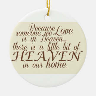 Little bit of Heaven Double-Sided Ceramic Round Christmas Ornament
