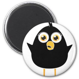 Little Black Bird 6 Cm Round Magnet