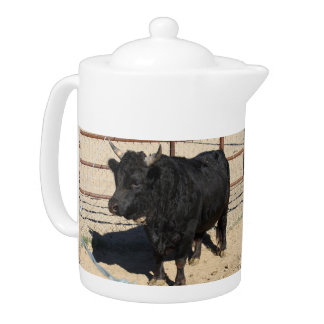 Little Black Bull Medium Tea Pot