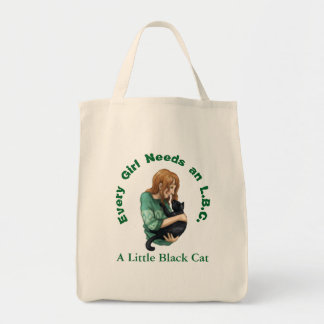 Little Black Cat Grocery Tote