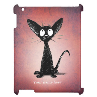 Little Black Cat on Pink Case For The iPad 2 3 4