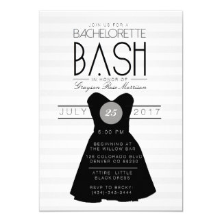 Little Black Dress Bachelorette Bash | Party 13 Cm X 18 Cm Invitation Card