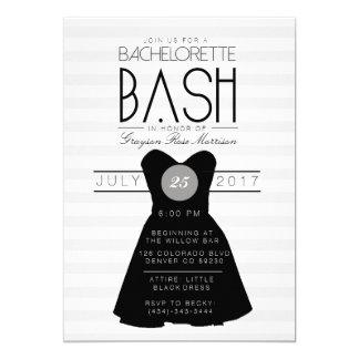 Little Black Dress Bachelorette Bash | Party Card
