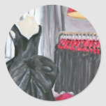 """""""Little Black Dress"""" Round Sticker"""