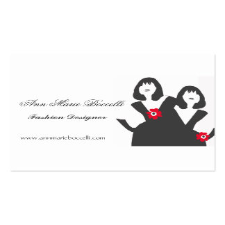 Little Black Dress Stylist Business Card Templates