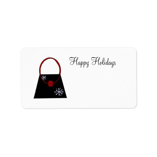 Little Black Handbag - Happy Holidays Label