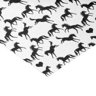 Little Black Horses Tissue Paper