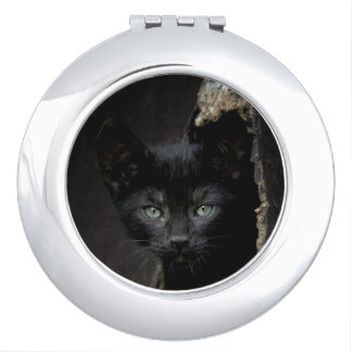 Little Black Kitty Travel Mirror