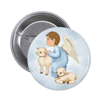 Little Blessings Angel Boy 6 Cm Round Badge