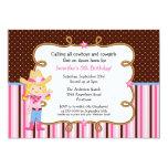 Little Blonde Cowgirl Birthday Custom Invitations