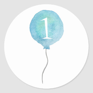 Little Blue Balloon Birthday Number Stickers