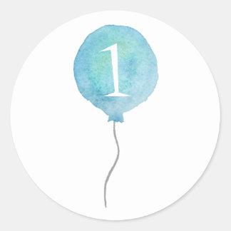 Little Blue Balloon Birthday Number Stickers