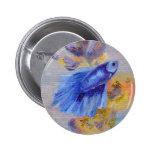 Little Blue Betta Fish 6 Cm Round Badge