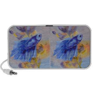 Little Blue Betta Fish Travel Speaker