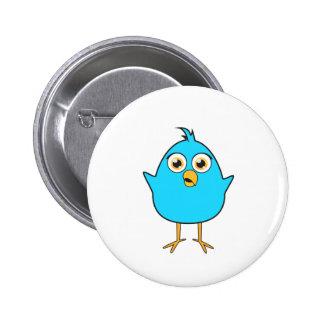 Little Blue Bird 6 Cm Round Badge