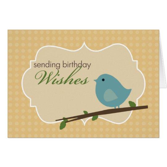 Little Blue Bird Birthday Card