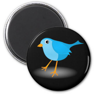 Little Blue Bird Cute Classic Custom Round Magnets Fridge Magnets