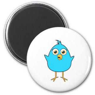 Little Blue Bird 6 Cm Round Magnet
