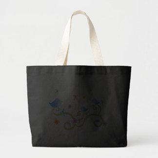 Little Blue Birdies Canvas Bags