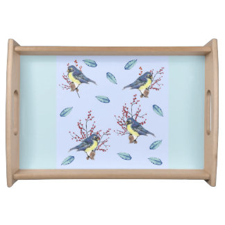 Little Blue Birds Serving Tray