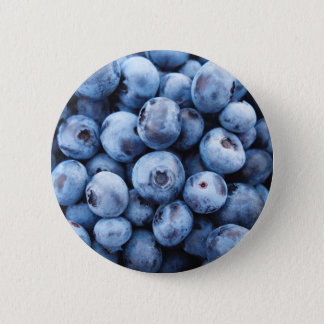Little Blue Blueberries - Fruit Print 6 Cm Round Badge