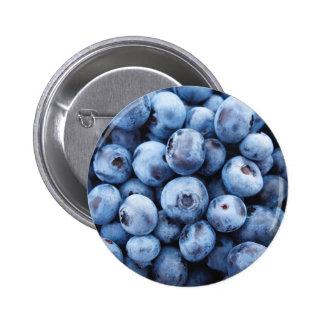 Little Blue Blueberries - Fruit Print 6 Cm Round Badge