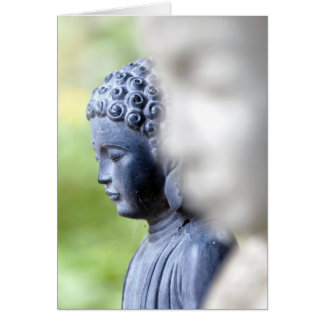 Little Blue Buddha Greeting Card