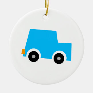 Little Blue Car Christmas Ornament