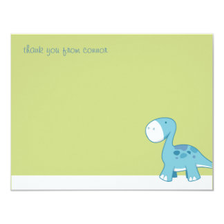 Little Blue Diplodocus | Flat Thank You Note Cards Custom Announcement