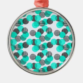 Little Blue Dots Christmas Ornament