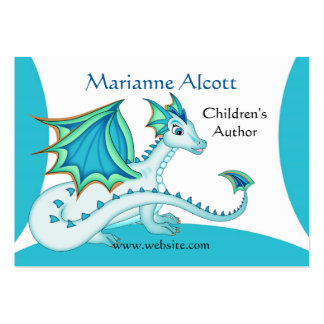 Little Blue Dragon Profile Card Pack Of Chubby Business Cards