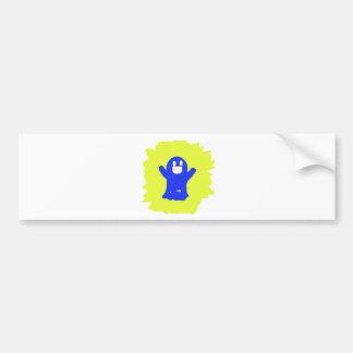 Little blue ghost bumper stickers