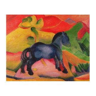 Little Blue Horse, 1912 Wood Wall Art