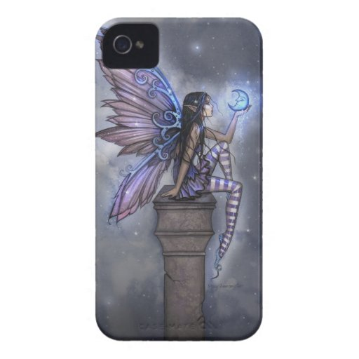 Little Blue Moon Fairy iPhone Barely There Case iPhone 4 Case