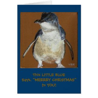 Little Blue Penguin Christmas Card